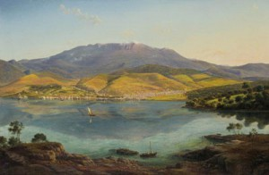 """Eugene von Guerard's """"View from Hobart Town..."""" was the star lot of the evening"""