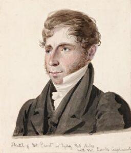 Lot 24, Augustus Earle, Sketch of Mr Prout N.S. Wales, c.1828, est. $75,000-$95,000. Piercing Prout