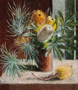 Lot 82, Vida Lahey, Banksia, est. $8,000-$12,000. Bank on Banksia