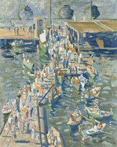 Lot 93, Herbert Badham, Port Said, 1954, est. $6,000-8,000. Watch for his retrospective at MAGAM
