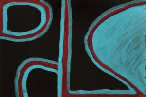 Lot 108, Paddy Bedford, Untitled, 2003, est. $5,000-7,000. An abstract lesson
