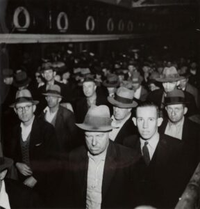 Lot 266 - Male Commuters departing Ferry, est. $1,500-2,500. Manly Men, Manly Ferry